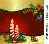 christmas background with... | Shutterstock .eps vector #118384639