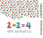 happy mathematics concept... | Shutterstock .eps vector #1183849891