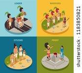 people of maya civilization... | Shutterstock .eps vector #1183850821