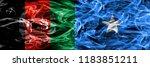 afghanistan vs somalia smoke... | Shutterstock . vector #1183851211