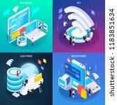 wireless technology concept 4... | Shutterstock .eps vector #1183851634