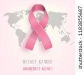 october  breast cancer... | Shutterstock .eps vector #1183855687