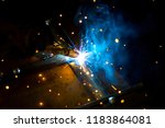sparks. magic glowing flow of... | Shutterstock . vector #1183864081
