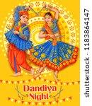 vector design of indian couple... | Shutterstock .eps vector #1183864147