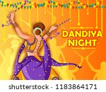 vector design of indian woman... | Shutterstock .eps vector #1183864171