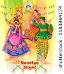 vector design of indian couple... | Shutterstock .eps vector #1183864174