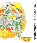 vector design of indian couple... | Shutterstock .eps vector #1183864207