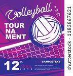 volleyball tournament design....   Shutterstock .eps vector #1183867621