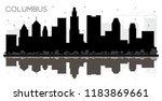 columbus ohio city skyline... | Shutterstock . vector #1183869661