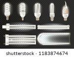 set various light realistic... | Shutterstock . vector #1183874674