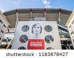 billboard at the johan cruijff... | Shutterstock . vector #1183878427