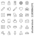 thin line vector icon set  ... | Shutterstock .eps vector #1183886191