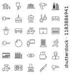 thin line vector icon set  ... | Shutterstock .eps vector #1183886941