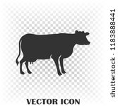 vector silhouette of the cow.... | Shutterstock .eps vector #1183888441