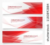 set of abstract banner template ... | Shutterstock .eps vector #1183892884