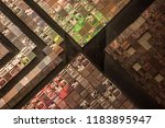 close up of silicon wafer   Shutterstock . vector #1183895947