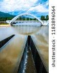 white bridge above mae tha...   Shutterstock . vector #1183896064
