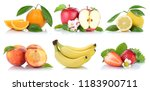 fruits collection fresh oranges ... | Shutterstock . vector #1183900711