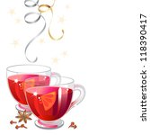 mulled wine with spices and... | Shutterstock . vector #118390417