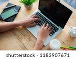 businessman at work. close up...   Shutterstock . vector #1183907671