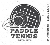 paddle tennis badge  emblem or... | Shutterstock .eps vector #1183912714