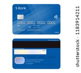 bank credit card | Shutterstock .eps vector #1183914211