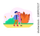 illustration two young people ... | Shutterstock .eps vector #1183915117