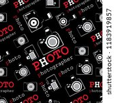 photo cameras and captions.... | Shutterstock .eps vector #1183919857