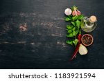 food background. on the old... | Shutterstock . vector #1183921594