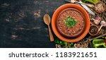bean. haricot soup. georgian...   Shutterstock . vector #1183921651