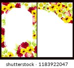 invitation greeting card with... | Shutterstock . vector #1183922047