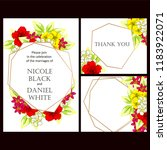 invitation greeting card with... | Shutterstock . vector #1183922071