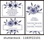 invitation greeting card with... | Shutterstock . vector #1183922101
