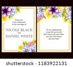invitation greeting card with... | Shutterstock . vector #1183922131