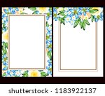 invitation greeting card with... | Shutterstock . vector #1183922137