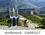 pair of champagne glasses and... | Shutterstock . vector #118392217