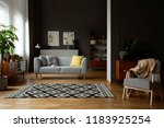 real photo of open space dark... | Shutterstock . vector #1183925254