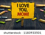 word writing text i love you ... | Shutterstock . vector #1183933501