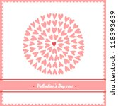beautiful valentines day card... | Shutterstock .eps vector #118393639