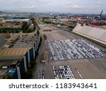 aerial view of logistics... | Shutterstock . vector #1183943641