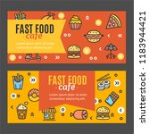 fastfood and street food flyer... | Shutterstock . vector #1183944421