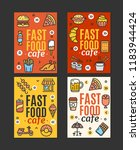 fastfood and street food flyer... | Shutterstock . vector #1183944424