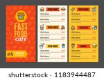 fastfood and street food menu... | Shutterstock . vector #1183944487