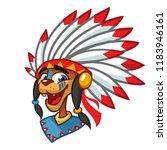 native american character... | Shutterstock .eps vector #1183946161