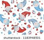 vector  christmas seamless... | Shutterstock .eps vector #1183948501