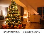 beautiful christmas tree with... | Shutterstock . vector #1183962547