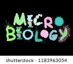 biological bacteria lettering... | Shutterstock .eps vector #1183963054