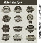 retro vintage badges | Shutterstock .eps vector #118396339
