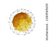 vector abstract polygonal... | Shutterstock .eps vector #1183969654