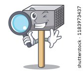 detective hammer cartoon for... | Shutterstock .eps vector #1183973437